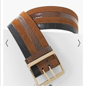 WHBM WIDE LEATHER BELT (NWT)